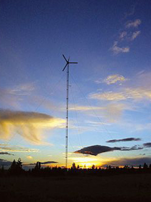 Bergey wind turbine installed by Our Wind Cooperative located at Gwen Bassetti's property in Goldendale, Wash. Northwest Seed